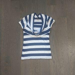 Jacob Scoop Neck Striped T-shirt